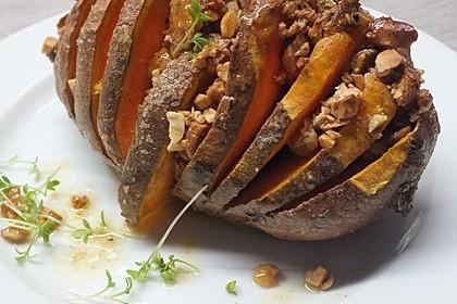 Weihnachtliche Süßkartoffel mit einer Nuss-Variation 7