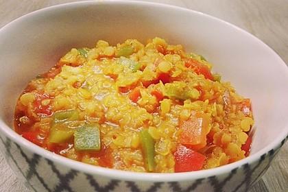 Linsen-Curry mit Kokosmilch