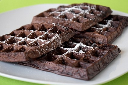 Brownie-Schokoladen-Waffeln 3