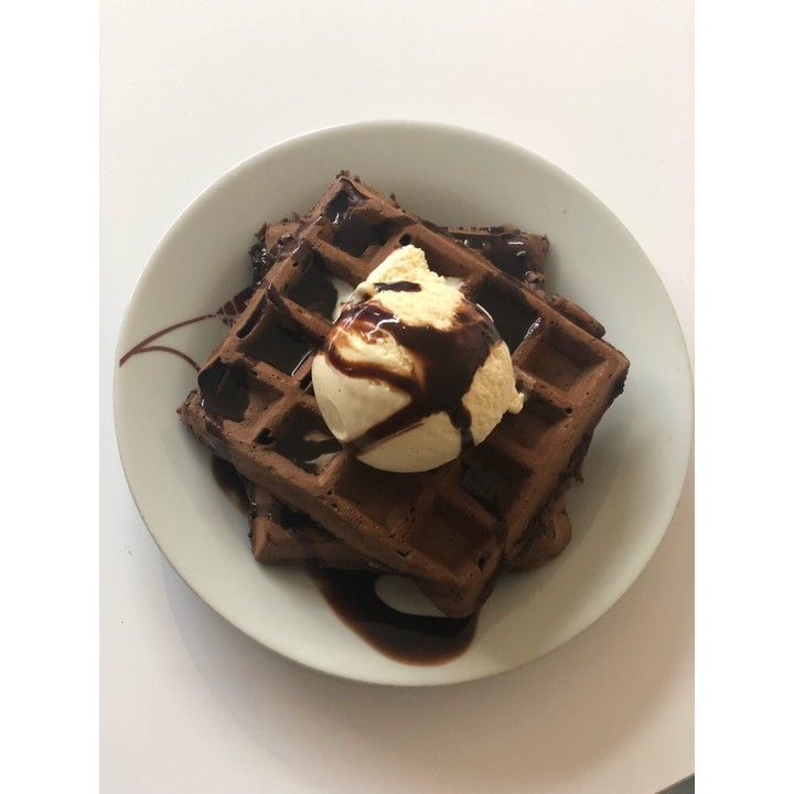 brownie schokoladen waffeln von amerikanisch kochende chefkoch. Black Bedroom Furniture Sets. Home Design Ideas