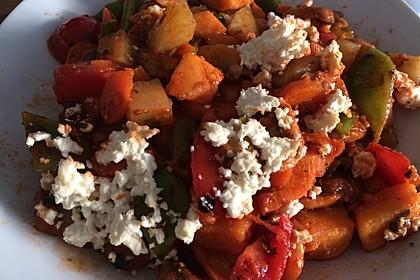 Süßkartoffel-Gemüse-Auflauf 1