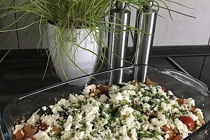 Süßkartoffel-Gemüse-Auflauf