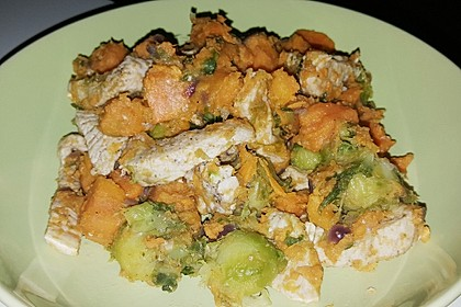 Süßkartoffel-Rosenkohl-Pfanne 5