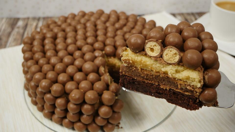 Maltesers Ombre Cake Von Amerikanisch Kochende Chefkoch De