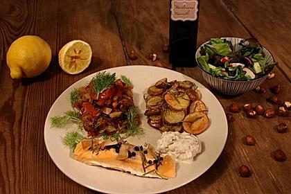 Fenchelgemüse mit Tomaten-Knoblauch-Kruste