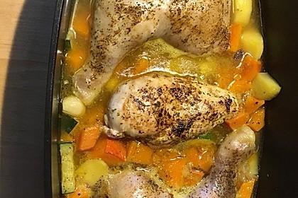Hühnerkeule mit Gemüse aus dem Bräter 6