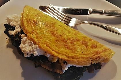 Omelett mit Champignon-Spinat-Füllung 1
