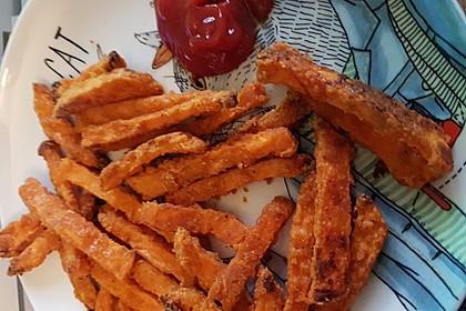 Gebackene Süßkartoffel-Pommes-Frites 3