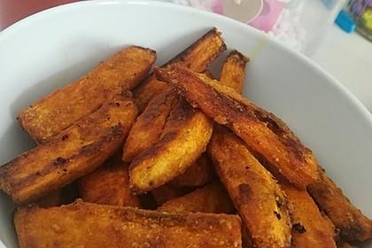 Gebackene Süßkartoffel-Pommes-Frites 7