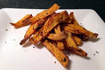 Gebackene Süßkartoffel-Pommes-Frites 11