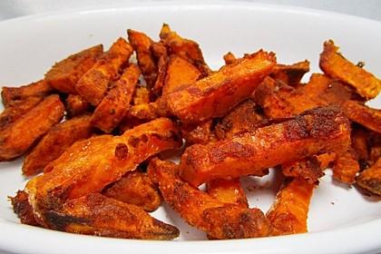 Gebackene Süßkartoffel-Pommes-Frites 1