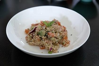 Quinoa Taboulé mit Erdbeeren