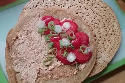 Vegane Rote Linsen-Pfannkuchen