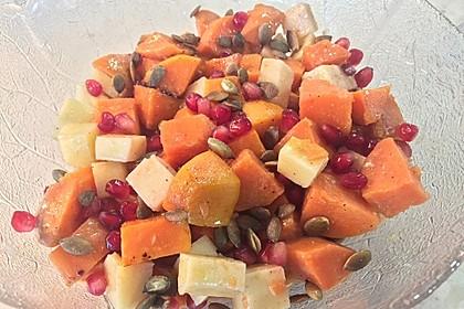 Süßkartoffelsalat mit Feta und Granatapfel 2