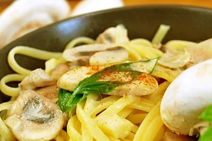 Vegetarische Champignon-Pasta (Bild)