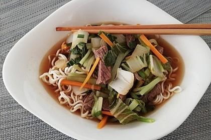 Taiwanesische Rindfleisch-Nudel-Suppe (Bild)