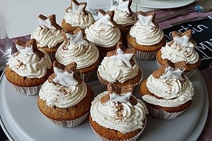 Zimtstern-Cupcakes
