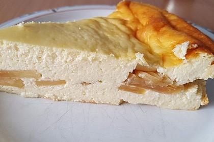 Bodenloser low carb Käsekuchen mit Äpfeln 2