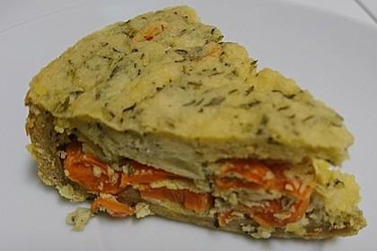 Vegane Karotten-Quark-Quiche