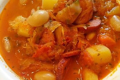 Pikanter Sauerkrauteintopf