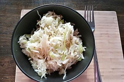 Zwiebel-Ingwer-Weißkraut, als Salat oder Gemüse 1