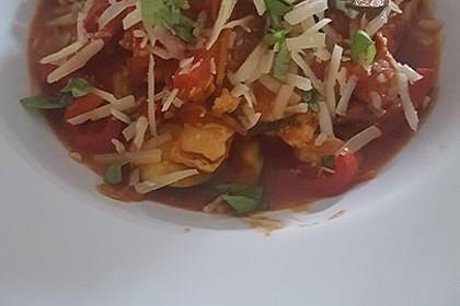 Low-Carb Zucchini-Paprika-Hähnchen-Pfanne 2
