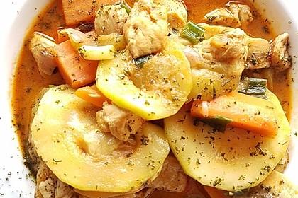 Low-Carb Zucchini-Paprika-Hähnchen-Pfanne 6