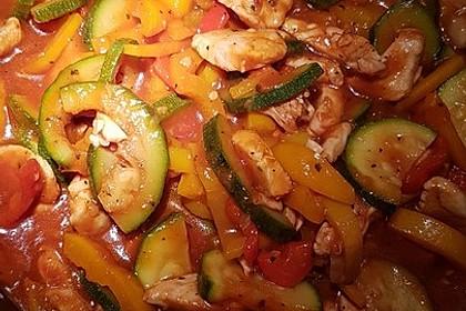 Low-Carb Zucchini-Paprika-Hähnchen-Pfanne 14