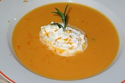 Süßkartoffelsuppe mit Orange und Rosmarin