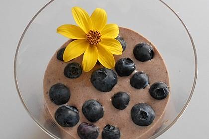 Schokojoghurt mit Heidelbeeren (Bild)