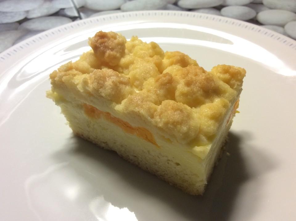 Quark Pudding Streuselkuchen Mit Mandarinen Von Lelmine Chefkoch De