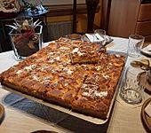 Quark-Pudding-Streuselkuchen mit Mandarinen (Bild)