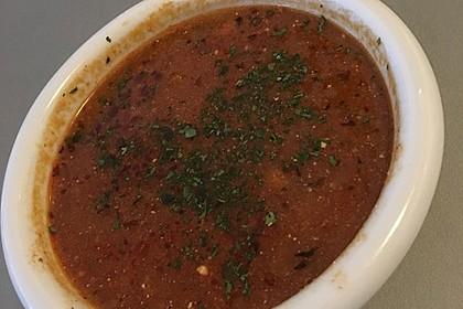 Feurige Sauerkrautsuppe (Bild)
