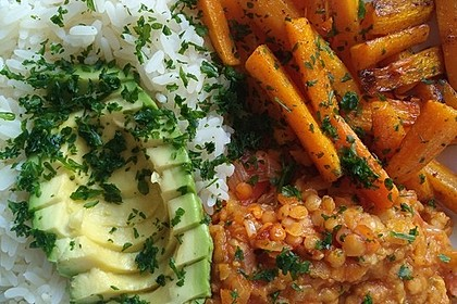 Vegane Curry-Linsen-Bowl 2