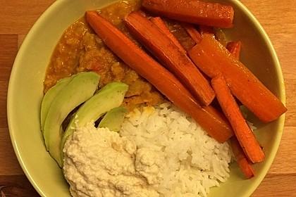 Vegane Curry-Linsen-Bowl 9