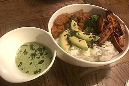 Vegane Curry-Linsen-Bowl 12