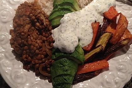 Vegane Curry-Linsen-Bowl 10