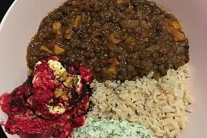 Vegane Curry-Linsen-Bowl 13