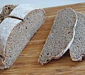 Dinkel - Leinsamen - Brot (Sauerteig) (Bild)
