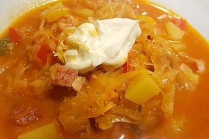 Sauerkraut - Paprika Suppe 4