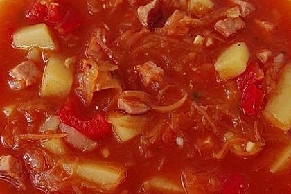 Sauerkraut - Paprika Suppe 5