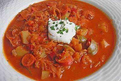 Sauerkraut - Paprika Suppe 1
