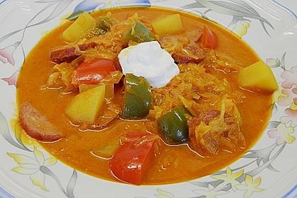 Sauerkraut - Paprika Suppe 3