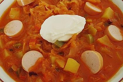 Sauerkraut - Paprika Suppe 6