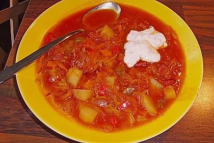 Sauerkraut - Paprika Suppe 10