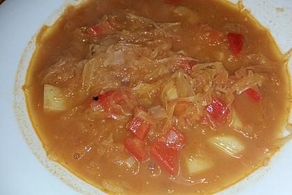 Sauerkraut - Paprika Suppe 13