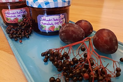 Holunder - Zwetschgen Marmelade 1