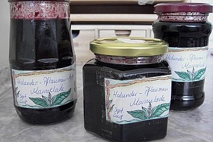 Holunder - Zwetschgen Marmelade 16