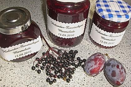 Holunder - Zwetschgen Marmelade 3