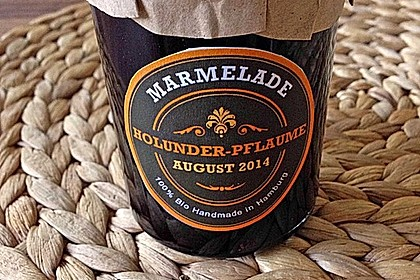 Holunder - Zwetschgen Marmelade 9